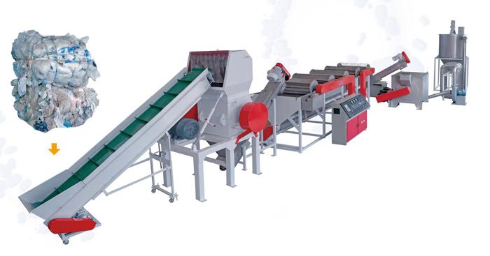Моечно-сушильный комплекс для ПЕ ПП пленочных отходов