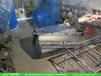 Фотография номер 3 галтовочного полировочного барабана с сушкой для деревянных палочек для кофе и мороженого купить в Киеве