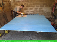 Фотография номер 2 процесса изготовления деревянной детской песочницы АлиБаБа купить в Киеве
