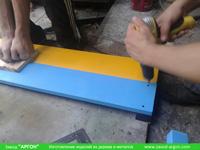 Фотография номер 3 процесса изготовления деревянной детской песочницы АлиБаБа купить в Киеве