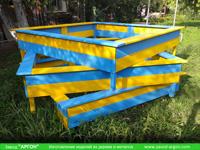 Фотография номер 5 деревянной детской песочницы АлиБаБа купить в Киеве