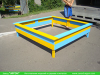Фотография номер 7 деревянной детской песочницы АлиБаБа купить в Киеве