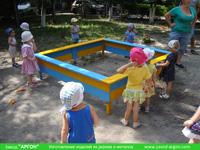 Фотография номер 9 деревянной детской песочницы АлиБаБа купить в Киеве