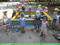 Фотография номер 10 деревянной детской песочницы АлиБаБа купить в Киеве