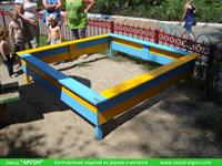 Фотография номер 11 деревянной детской песочницы АлиБаБа купить в Киеве
