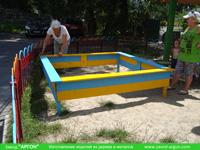 Фотография номер 12 деревянной детской песочницы АлиБаБа купить в Киеве