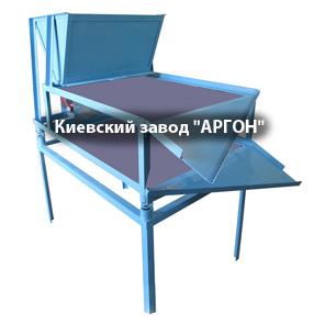 Двухуровневое вибросито модели ДВС-25 с бункером для сыпучих материалов купить в Киеве