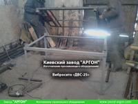 Фотография номер 2 двухуровневого вибросита модели ДВС-25 с бункером для сыпучих материалов купить в Киеве